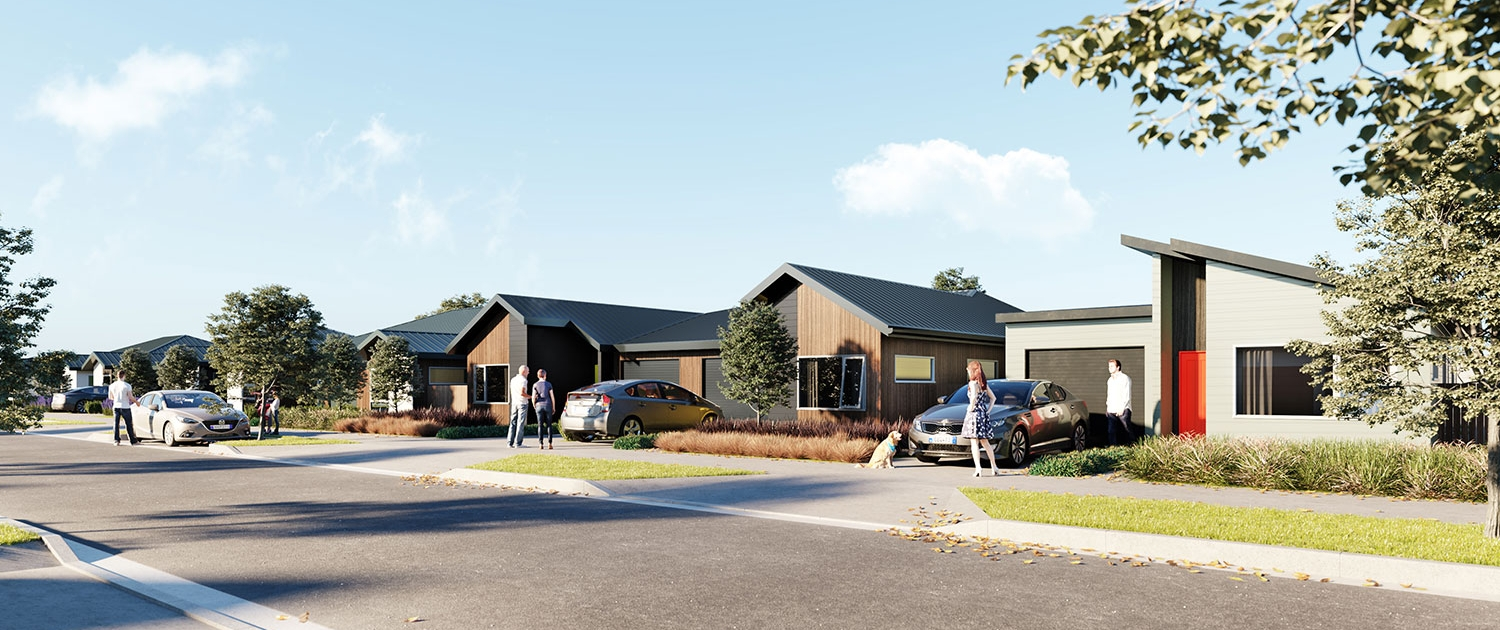 Image of a render of Kauri Landing homes
