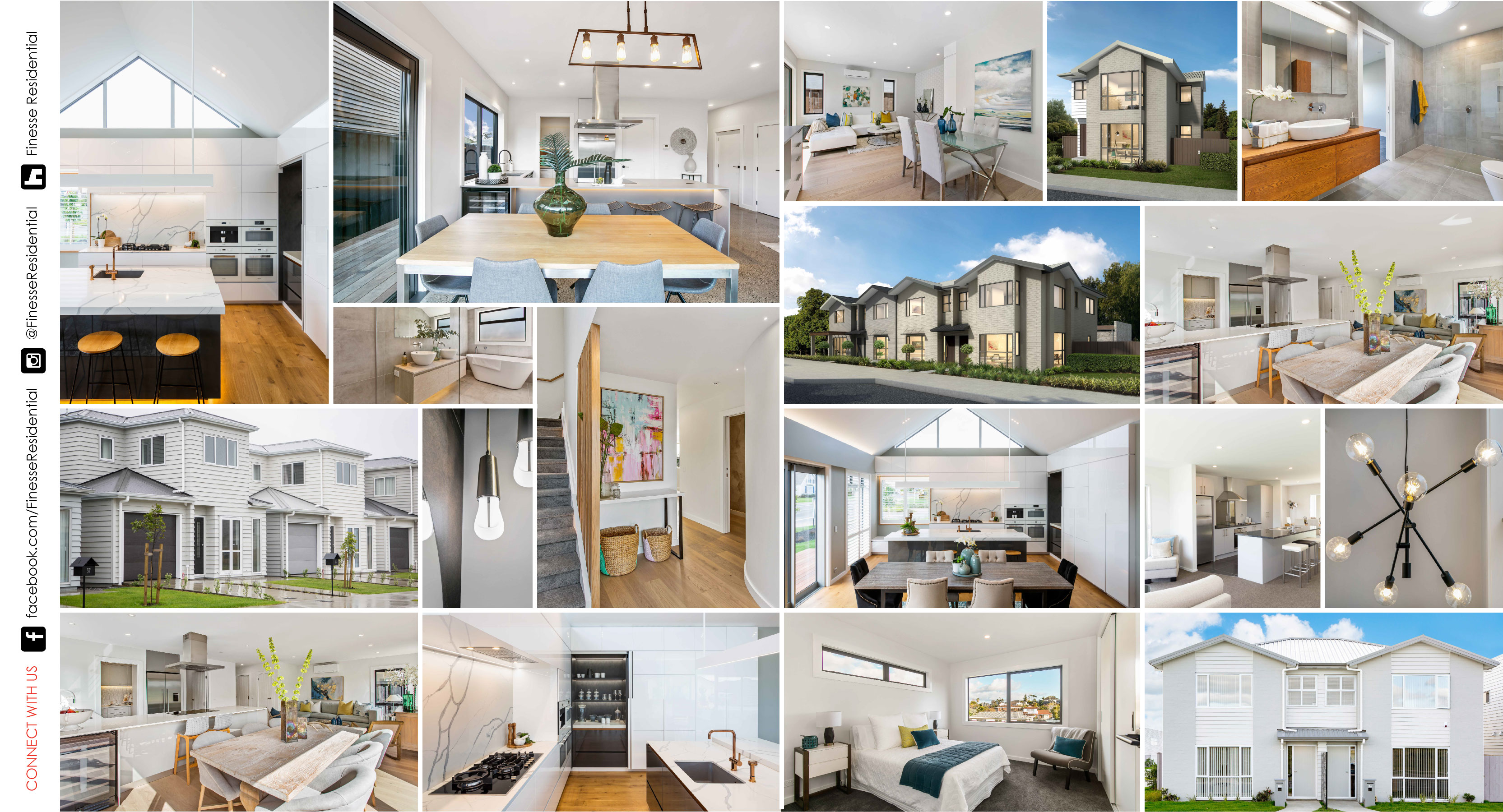 Photo montage of Finesse Residential Homes